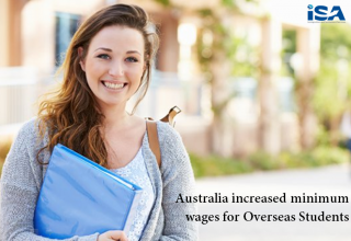 Australia increased minimum wages for Students