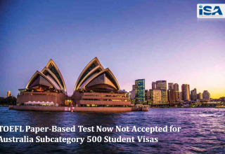 TOEFL Not Accepted for Australia Subcategory 500 Student Visas