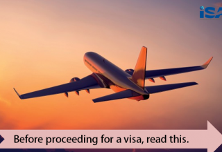 before proceeding for an Australian or canadian visa